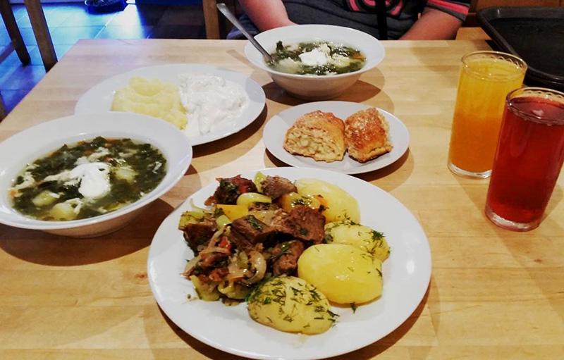 Цены в Абхазии на еду в столовых