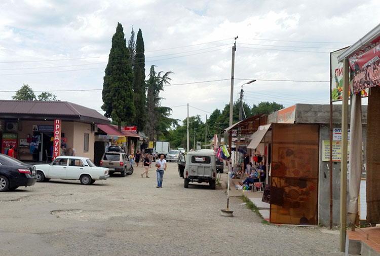 Рынок в Пицунде, Абхазия