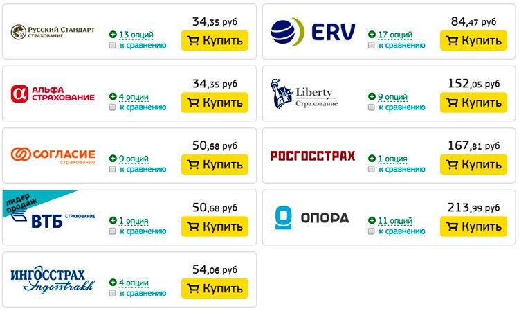 Страховка в Абхазию цена
